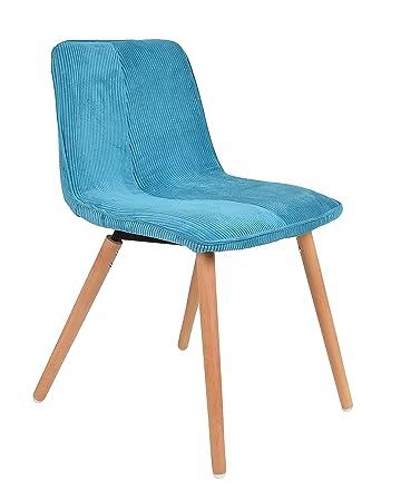 Ts Ideen 1x Design Wohnzimmer Esstisch Kchen Stuhl Esszimmer Sitz Cord In Blau Holz
