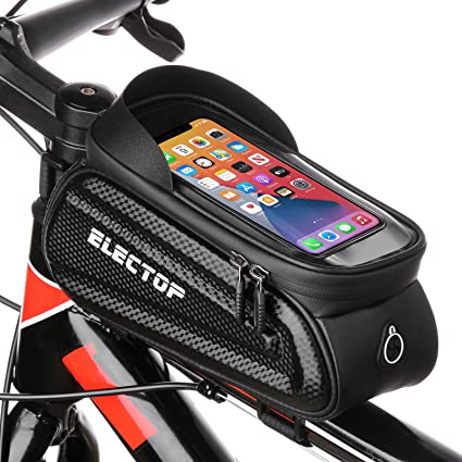 Bicycle Cycling Front Tube Pouch Frame Bag MTB Phone Holder Case Waterproof USA