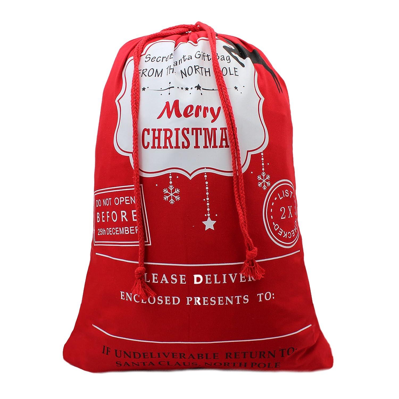 Amazon Bonison Christmas Bag Santa Sack Canvas Bag for Gifts