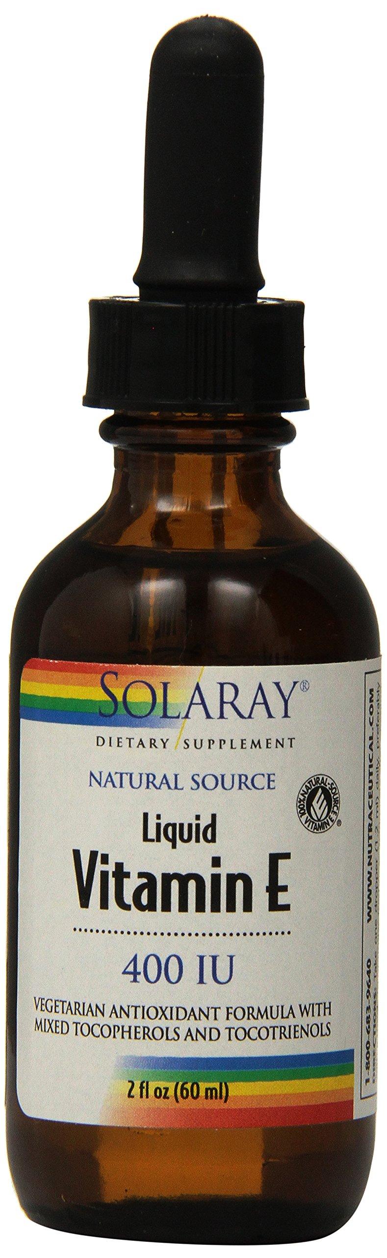 Solaray Liquid Vitamin E 400 IU Supplement, 2 Fluid Ounce