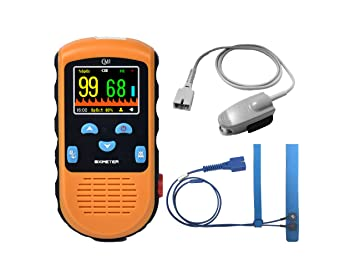 CMI Handheld Pulse Oximeter - with Adult and Infant (Under 20 lbs) Sensor  (90-Day 100% Satisfaction
