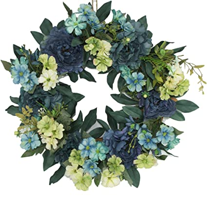Amazon Com Beautiful Wreaths Blended Hydrangea Wreath Summer