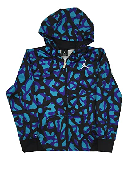 Amazon.com  Jordan Boys Elephant Print Hoodie - Black Purple ... 7e6bf5f79