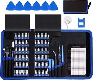 Electronics Repair Tool Kit, HPFIX 140pcs Precision Scredriver Set Magnetic for Laptop, MacBook, Computer, iPhone, Watch, Camera, Tablet, Game Console Repair