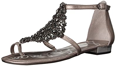 Sam Edelman Women's Dillan Dress Sandal, Pewter, ...