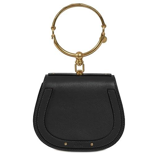 532319bb58 Chloe Nile Bracelet Small Black Leather Shoulder Bag: Amazon.ca ...