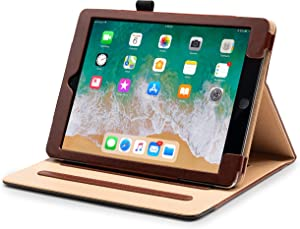 Claasico iPad 9.7 Case 2018/2017 5th/6th Gen, Premium PU Leather Business Slim Folding - Stand Folio ipad Cover Case for i Pad 9.7 inch, Also Fits iPad Air 1-2