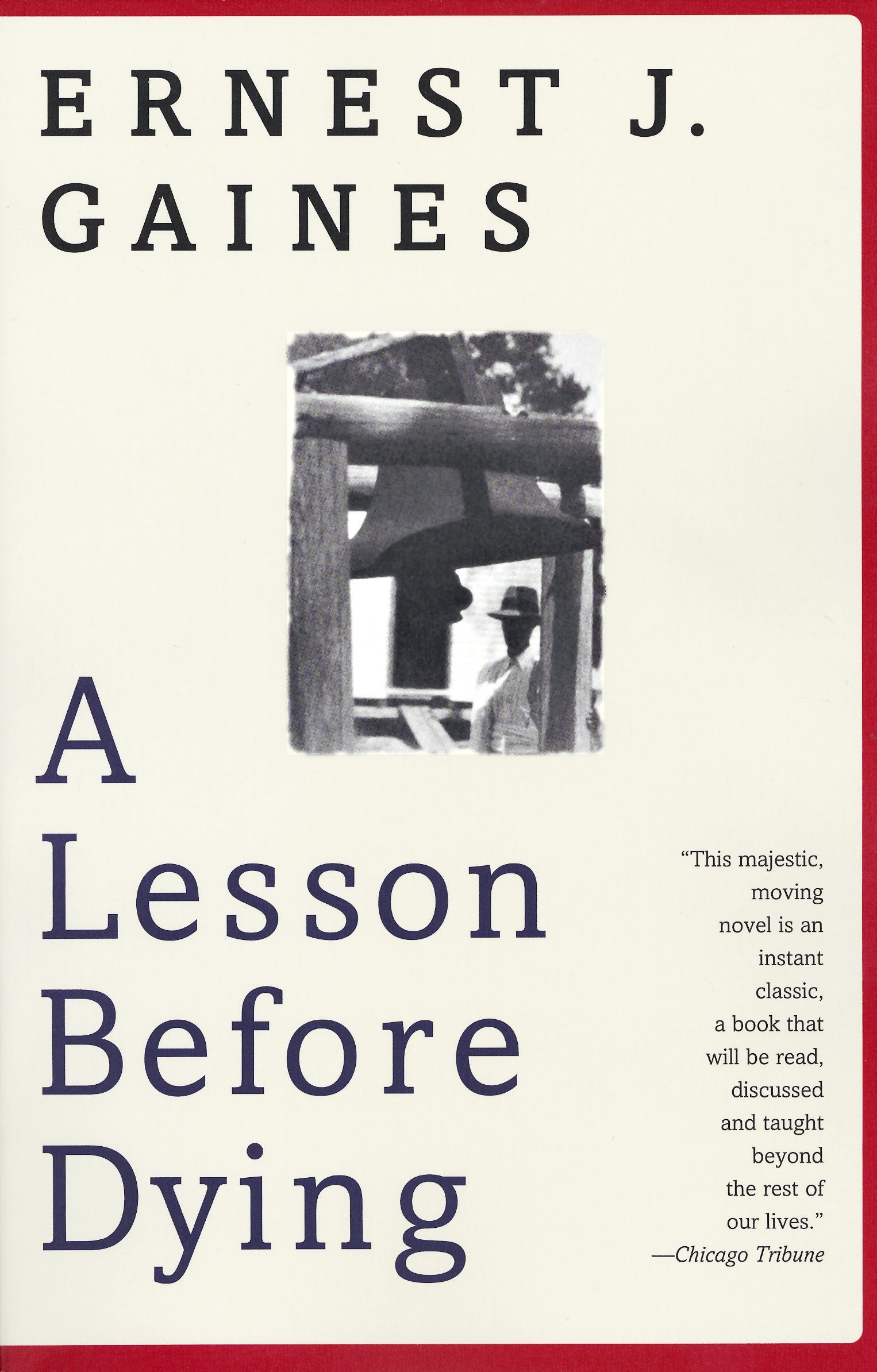 A Lesson Before Dying (Oprah's Book Club): Gaines, Ernest J.:  9780375702709: Amazon.com: Books