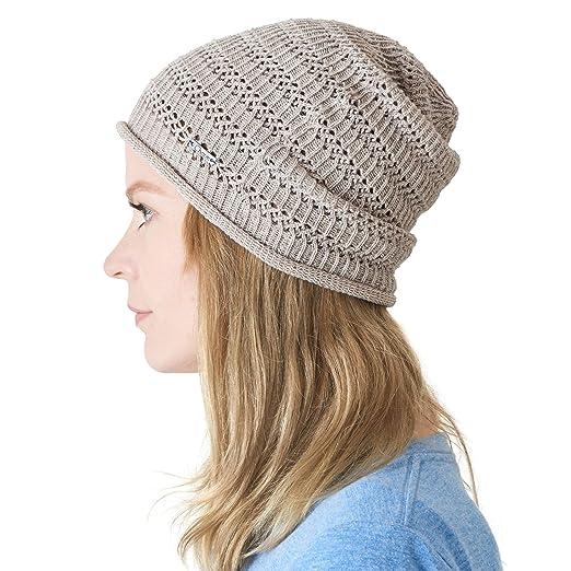 226607a52 Hemp Summer Beanie for Men - Womens Sweat Wicking Knit Japanese Hat Hipster  Cap