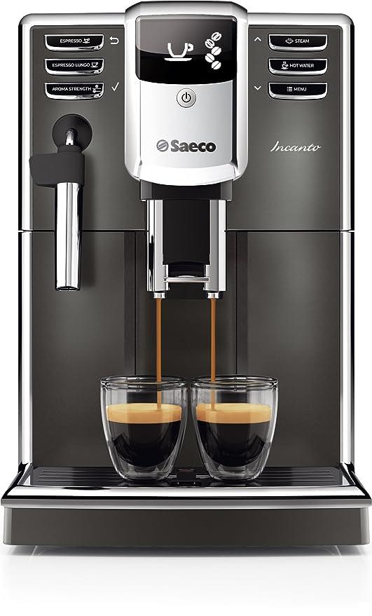 Saeco Incanto HD8913/11 - Cafetera (Independiente, Máquina espresso, 1,8 L, Molinillo integrado, 1850 W, Gris, Plata): Amazon.es: Hogar