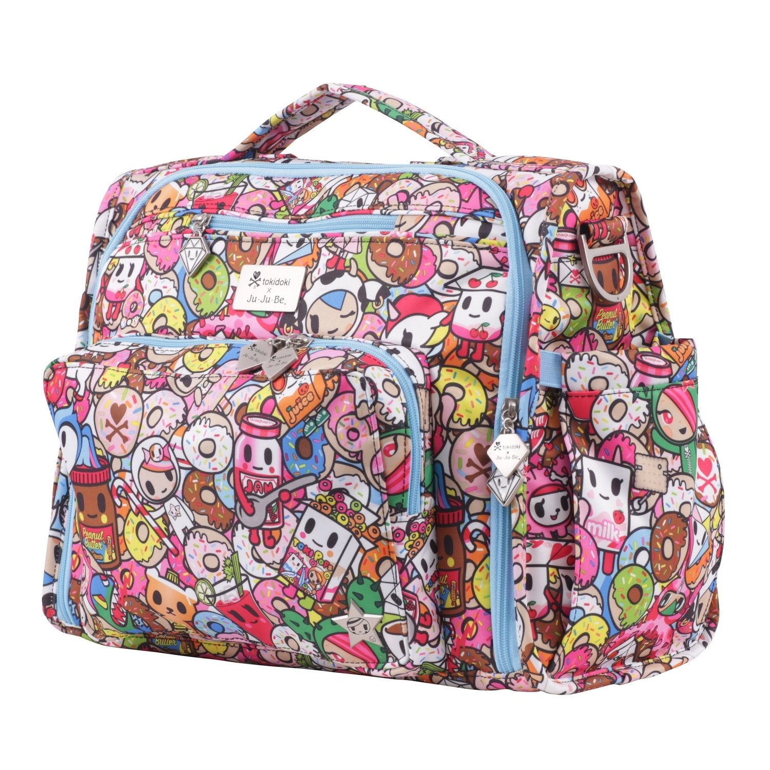 Amazon.com : JuJuBe B.F.F Multi-Functional Convertible Diaper Backpack/Messenger Bag, Tokidoki Collection - Tokipops : Baby