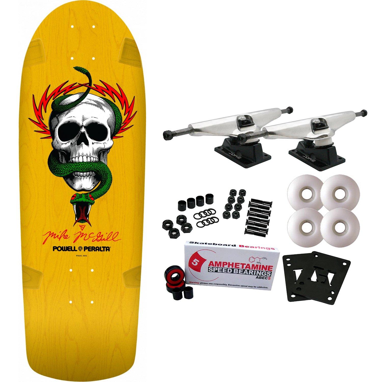 Powell-Peralta Re-Issue Skateboard Complete OG McGill Skull Snake Yellow Powell Peralta