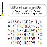 LitEnergy Cinema Sign Inklusive 90 Pastellfarben Buchstaben, Zahlen und Symbole für die Verwendung mit A4 Cinematic Lightbox