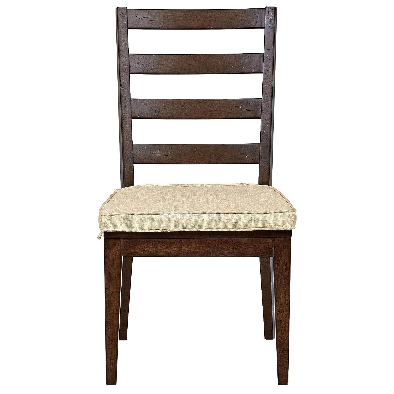Stone Beam Dunbar Modern 2-Pack Ladderback Side Chairs, 38 H, Oak
