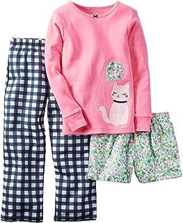 Carter's Little Girls' 3 Piece PJ Set (Toddler/Kid) Elephant