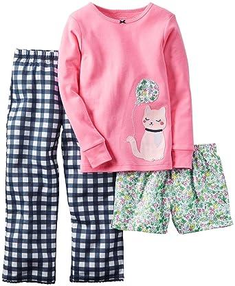 f1bfdd758143 Amazon.com  Carter s Little Girls  3 Piece PJ Set (Toddler Kid ...
