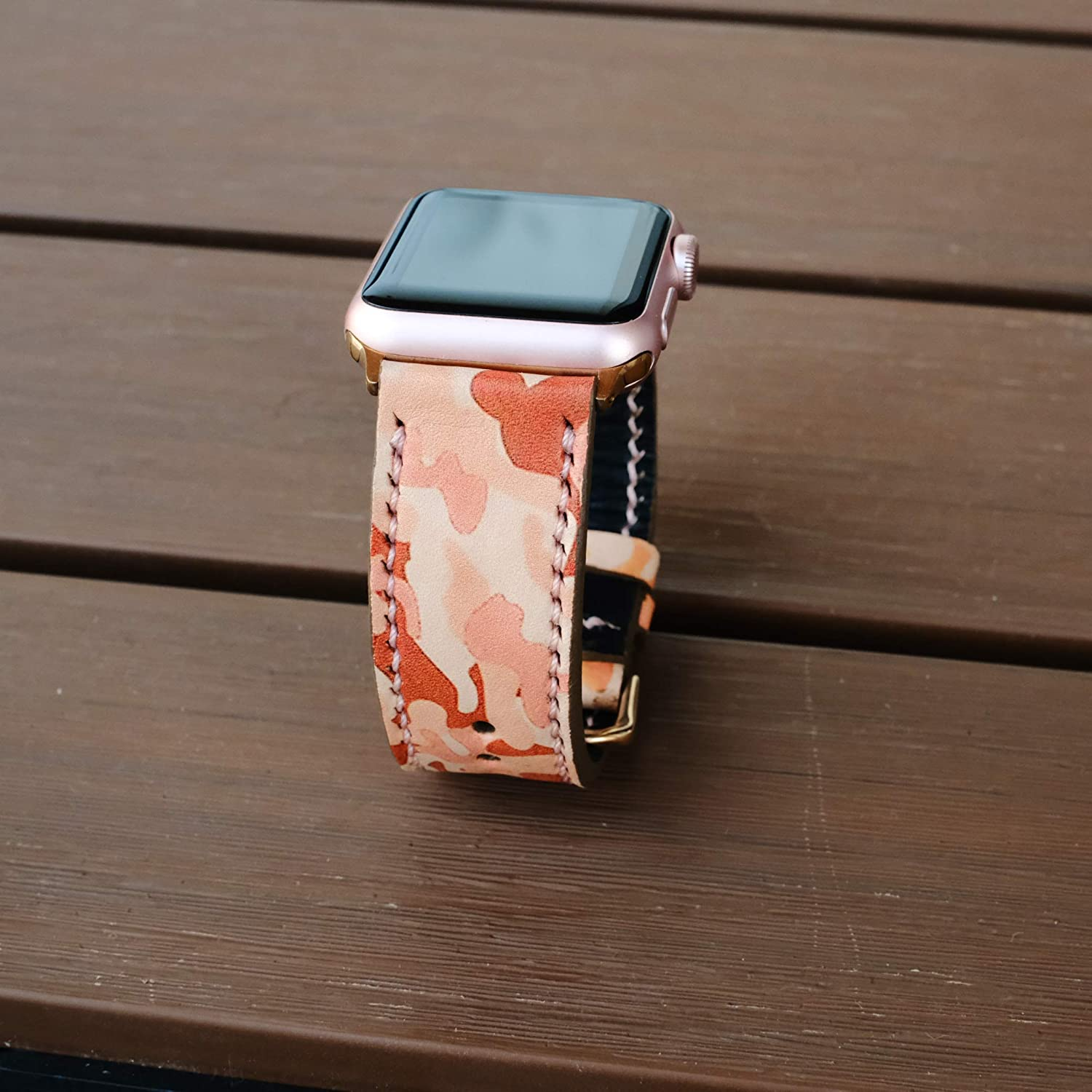 Apple Watch Band 38mm 40mm 42mm 44mm,Series 5 Series 4 Series 3 Series 2,Hand-Stitched Handmade Apple Watch Leather