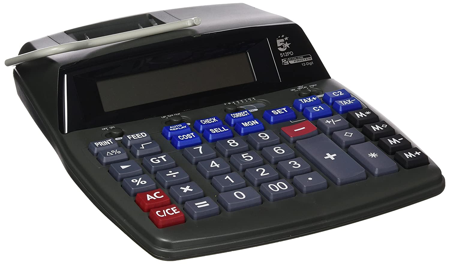 Amazon.com : 5 Star 960158 Desktop 512PD Calculator 12 ...