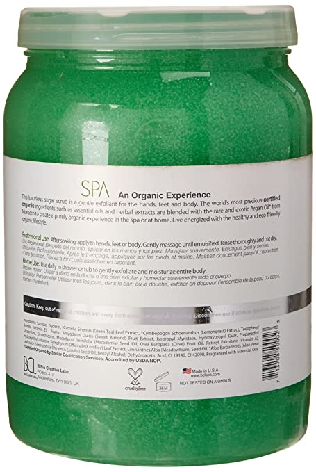 Amazon.com: Bio Creative Lab BCL Spa Sugar Scrub, Lemongrass and Green Tea, 64 Ounce: Beauty