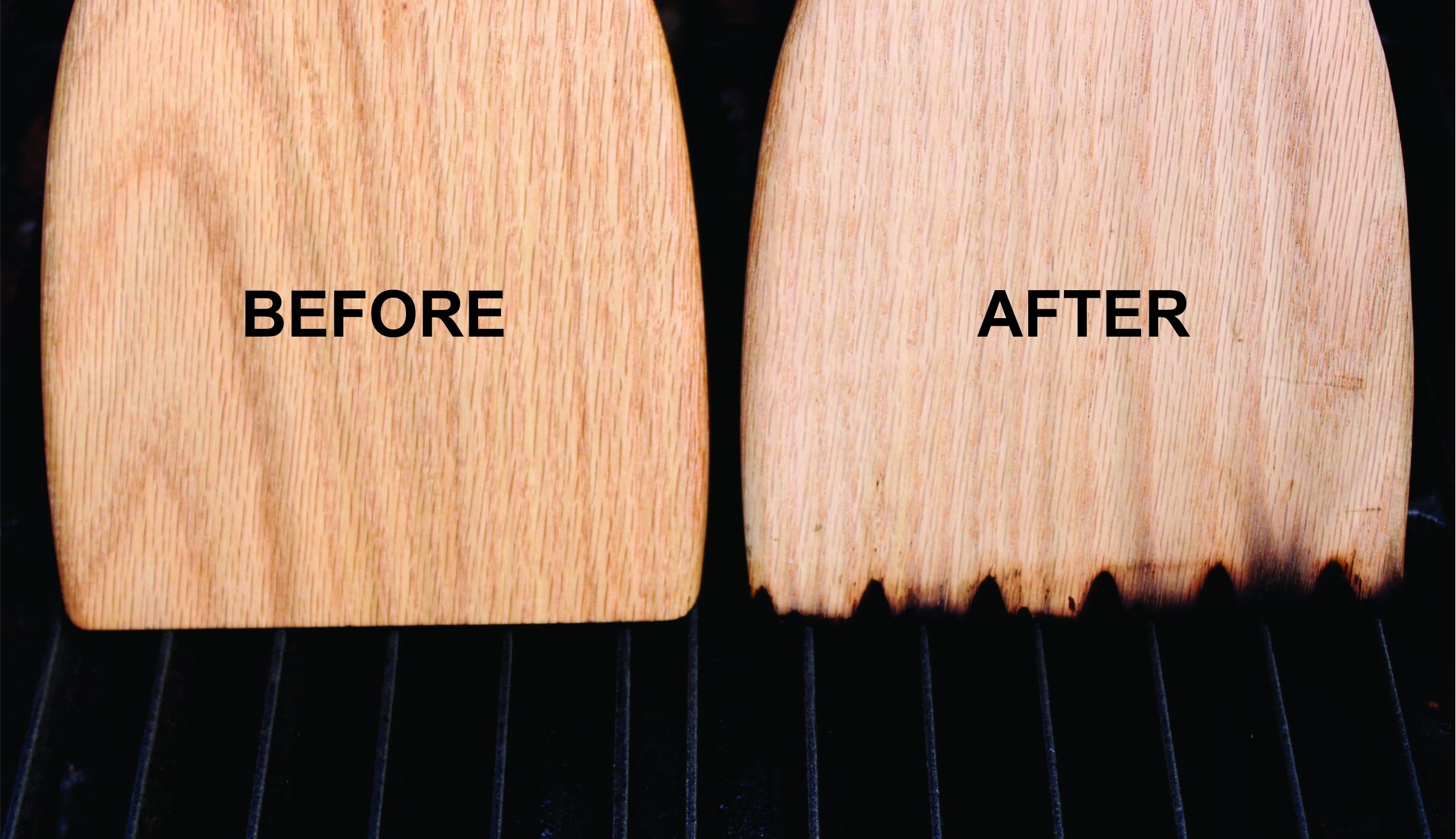 The Grill Oar - Wooden Grill Scraper and Cleaner, Premium Red Oak Wood, Cleans Top and Between Grates, Safe Replacement for Wire Bristle Brush, Made in The USA, Free Koozie Included! by Simply Better (Image #4)