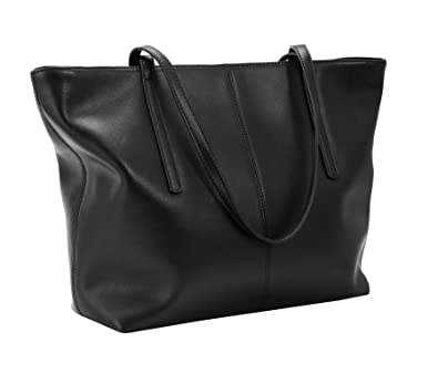 Amazon.com  Heshe Women s Leather Handbags Work Totes Bag Top Handle Bags  Shoulder Handbags Ladies Purses (Black-R044)  Shoes e8af18cbd758b