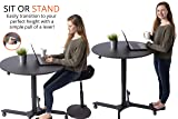 Pneumatic Adjustable-Height Cafe Table | Breakroom