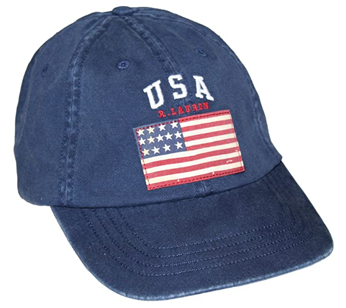 Amazon.com  Polo Ralph Lauren Men USA Flag Baseball Hat (One size ... 98b88812071