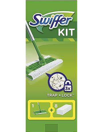 Swiffer - Mopa Kit Básico Con 8 Recambios (Paños Secos)