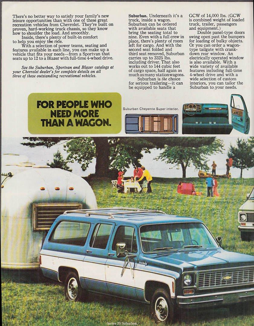 1974 Chevrolet Wagons Chevelle Vega Suburban Blazer SportVan at Amazons Entertainment Collectibles Store