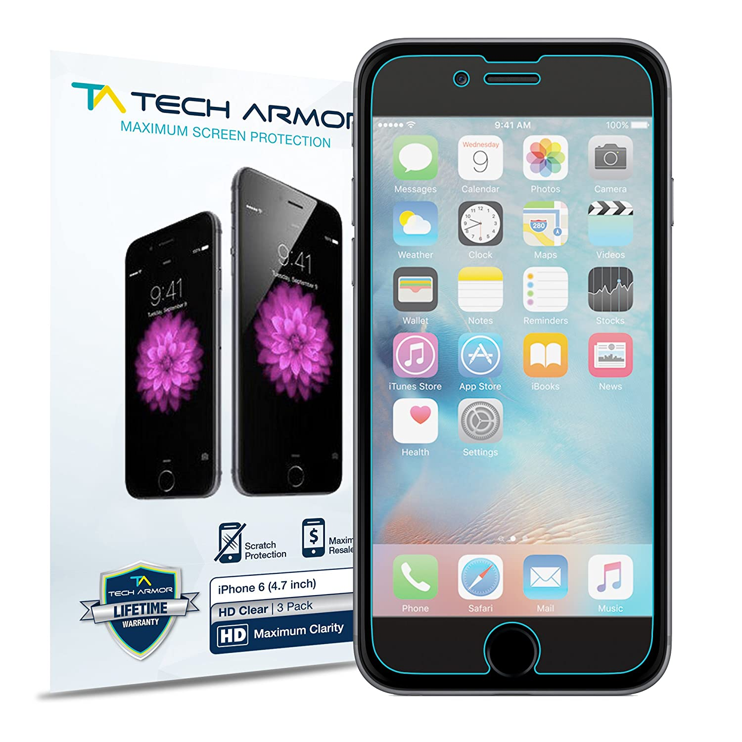amazon com iphone 6s screen protector tech armor high definition