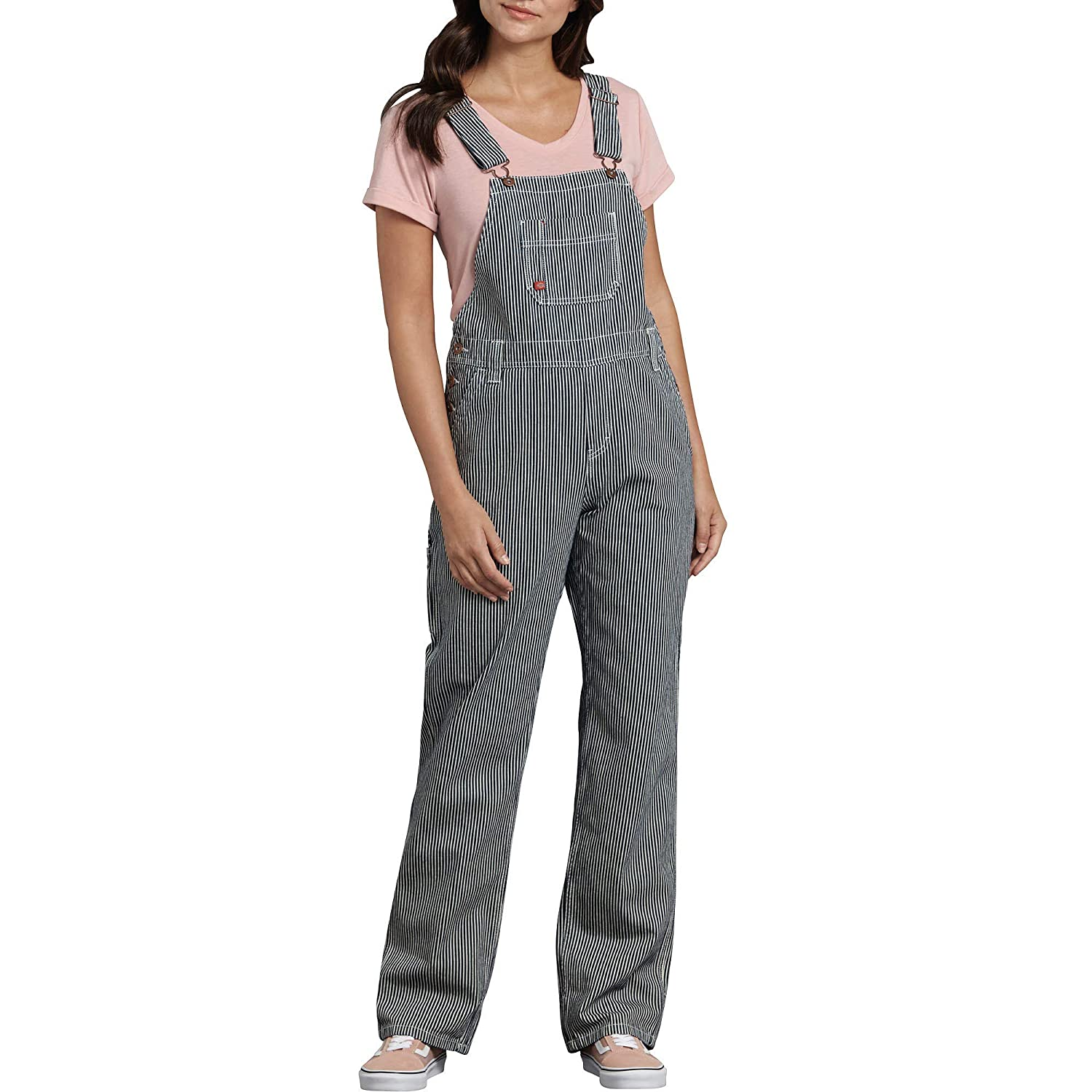 Vintage Overalls 1910s -1950s History & Shop Overalls Dickies Womens Denim Bib Overall $35.99 AT vintagedancer.com
