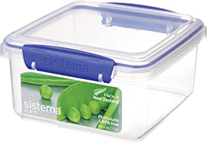 Sistema Klip It Collection Lunch Plus Food Storage Container, 40.5 Ounce/5 Cup