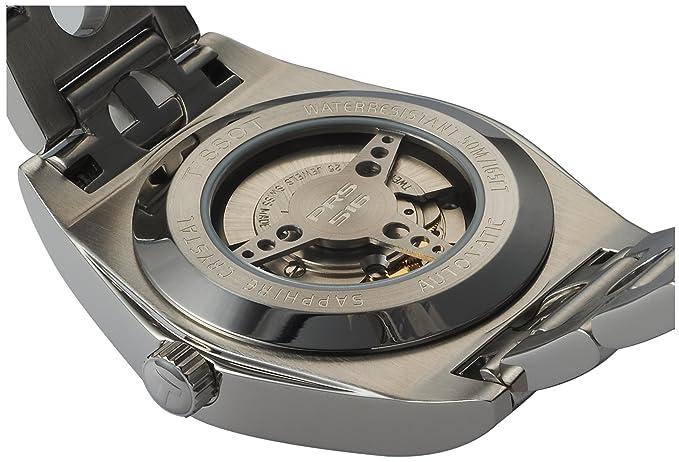 Tissot T91148351 - Reloj analógico de caballero automático con correa de acero inoxidable plateada: Amazon.es: Relojes