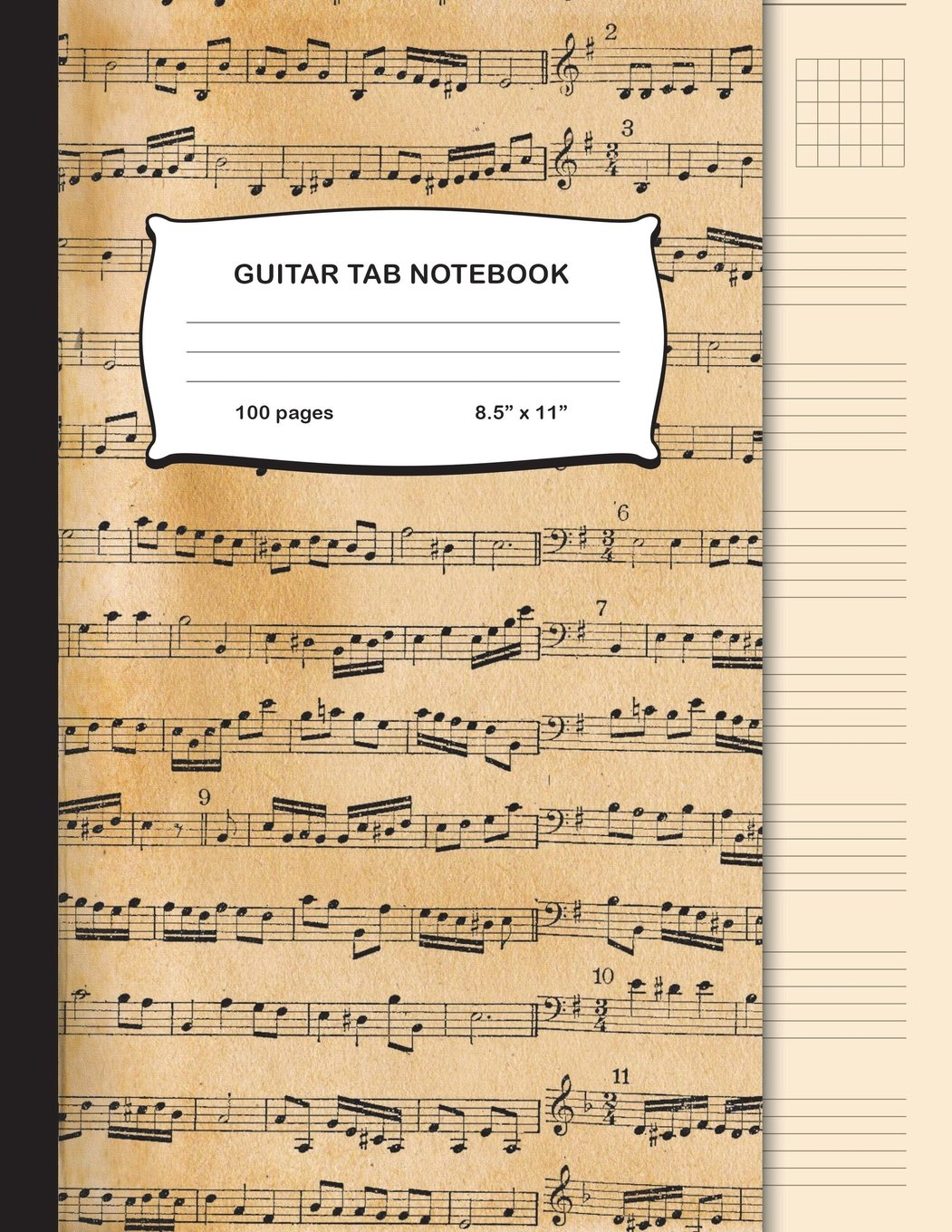 Guitar Tab Notebook: Blank Sheet Music for Guitar Vintage Pattern Cover Manuscript Paper Musicians Composition Notebook Journal Large, 8.5 x 11 inch (Music Composition Notebooks) pdf