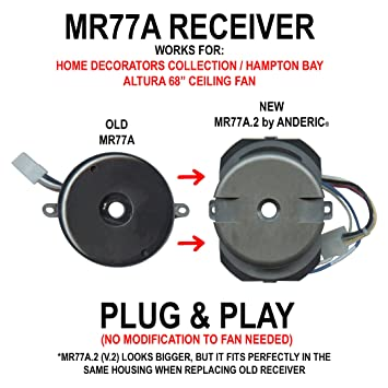 81Xkw33QhQL._SY355_ anderic mr77a 2 (updated version 2) ceiling fan receiver for home
