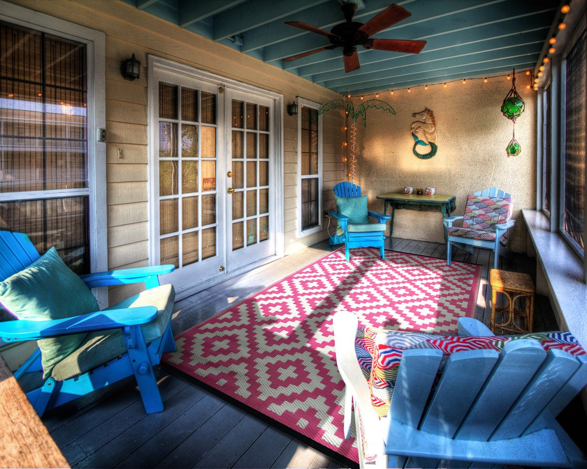 Green Decore Nirvana Rug - Alfombra ecológica para interiores y exteriores de plástico