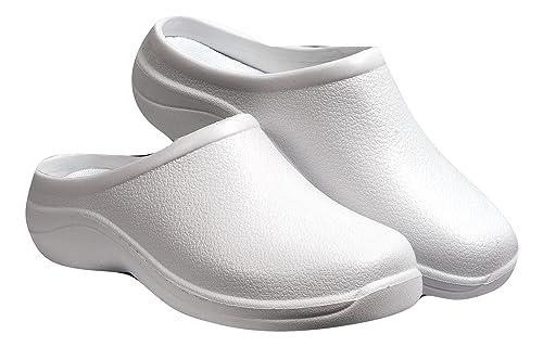 f46460cfc42 Zuecos Sanitarios- Zuecos Enfermeras- Cómodos y Originales Backdoorshoes®-  Modelo Médico Blanco Mujer