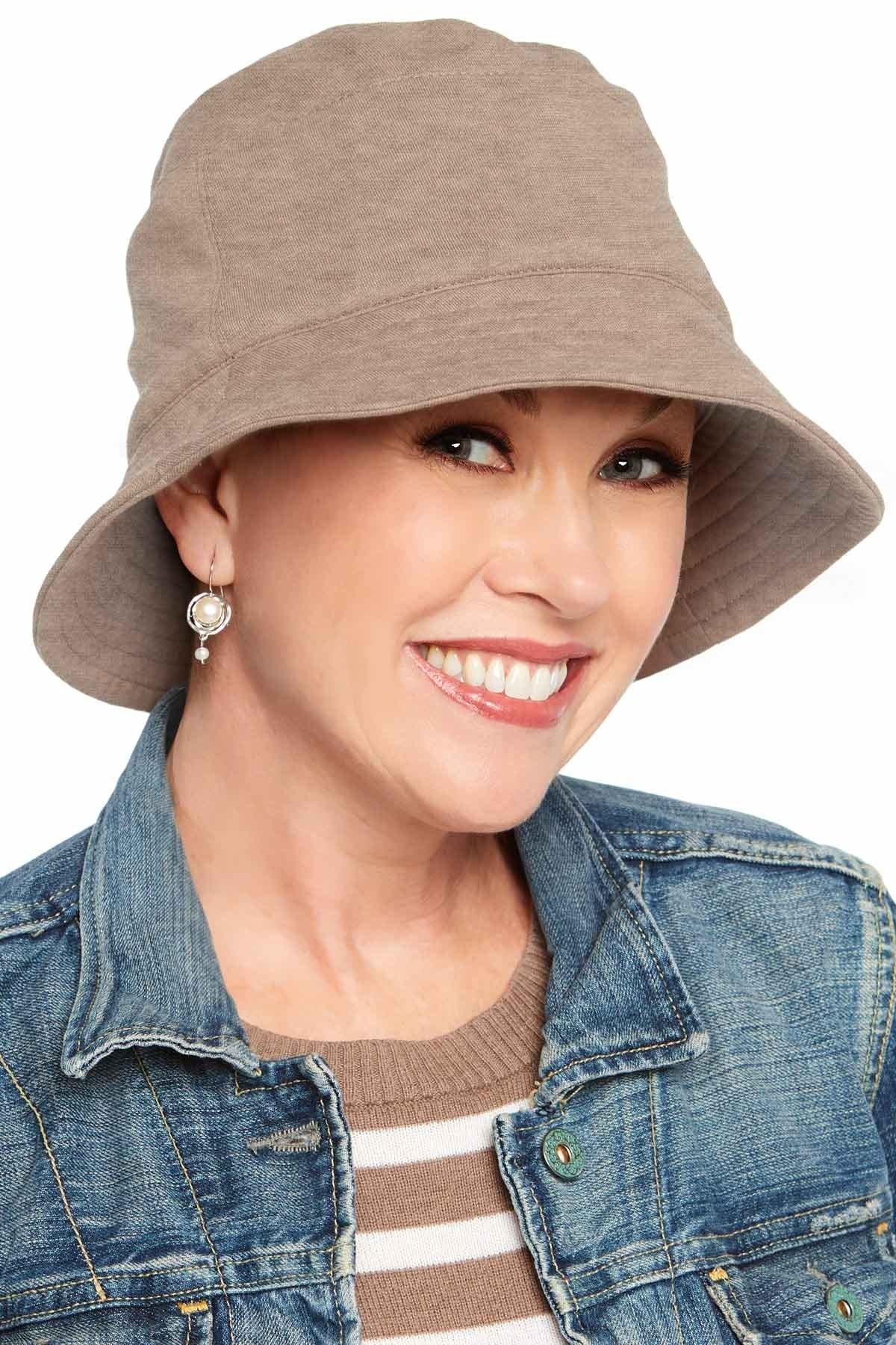 Sun Protection UPF 50+ Bucket Hat | 100% Cotton with Aloe Vera Lining UPF Heather Taupe | Large