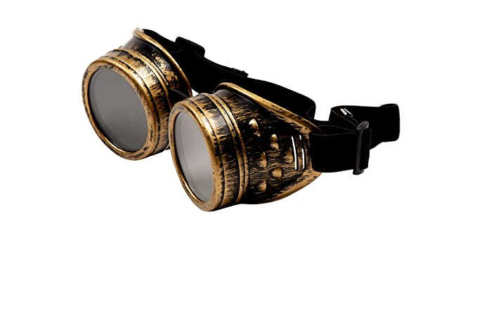 Men's Steampunk Goggles, Guns, Gadgets & Watches Blue Panda Steampunk Goggles - Vintage Victorian Style Glasses Costume Accessories $9.99 AT vintagedancer.com