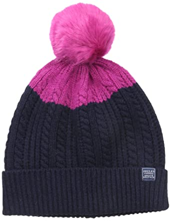 6ca8aa06fa4 Amazon.com  Joules Women s Bobble Hat Knitted Beanie