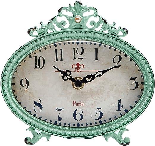NIKKY HOME Reloj de Mesa con diseño Vintage de Cuarzo analógico ...