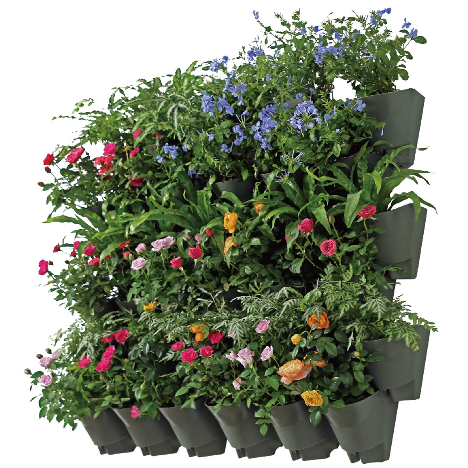 Self Watering Indoor Outdoor Vertical Wall Hangers With Pots Included Wall Plant Hangers Each Wall Mounted Hanging Pot Has 3 Pockets 36 Total Pockets