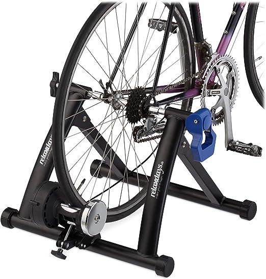Relaxdays Rodillo Bicicleta Plegable para Ruedas de 26-28 Pulgadas, Antideslizante, Acero, 41 x 54,5 x 60 cm, Negro: Amazon.es: Deportes y aire libre
