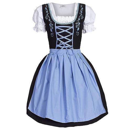 Bongossi-Trade Women's Dirndl Dress Blue Black