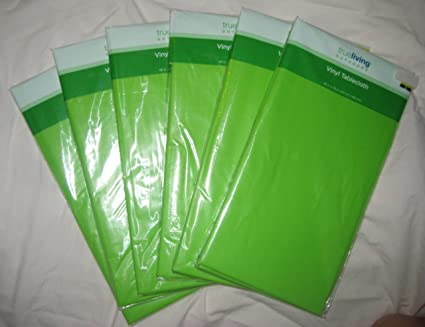 Exceptionnel Neon Green Vinyl Tablecloths (Set Of 6)