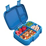 Bentgo Fresh (Blue) – New & Improved Leak-Proof, Versatile 4-Compartment Bento-Style Lunch Box – Ideal for Portion…