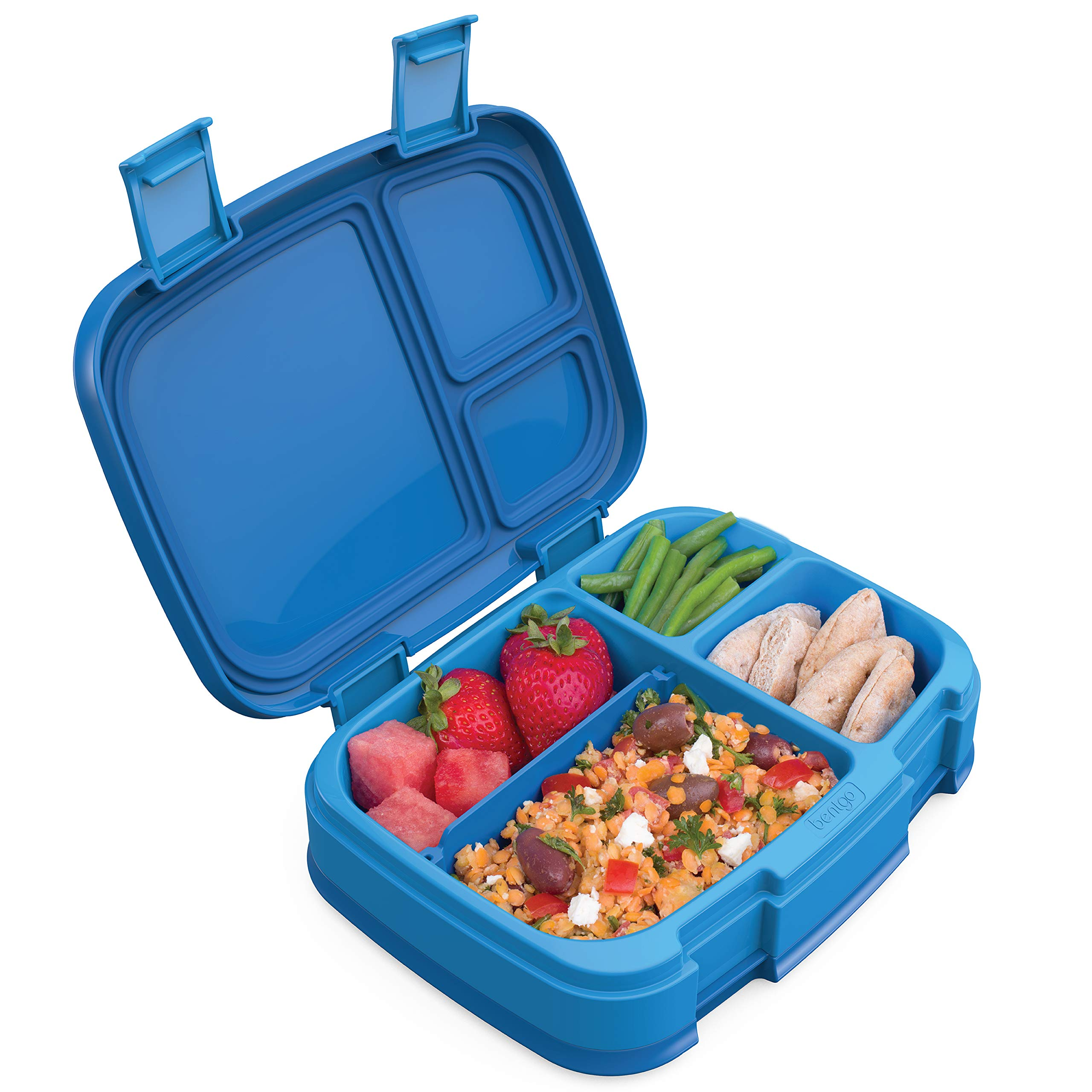 Bentgo Fresh (Blue) - New & Improved Leak-Proof, Versatile 4-Compartment Bento-Style Lunch Box - Ideal for Portion-Control and Balanced Eating On-The-Go - BPA-Free and Food-Safe Materials by Bentgo