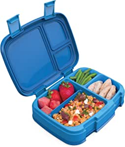 Bentgo Fresh (Blue) – New & Improved Leak-Proof, Versatile 4-Compartment Bento-Style Lunch Box – Ideal for Portion-Control and Balanced Eating On-The-Go – BPA-Free and Food-Safe Materials