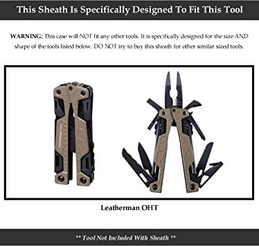 American Bench Craft Riveted Leather Multi Tool Case for SOG PowerLock and PowerAssist SOG Sheath Brown