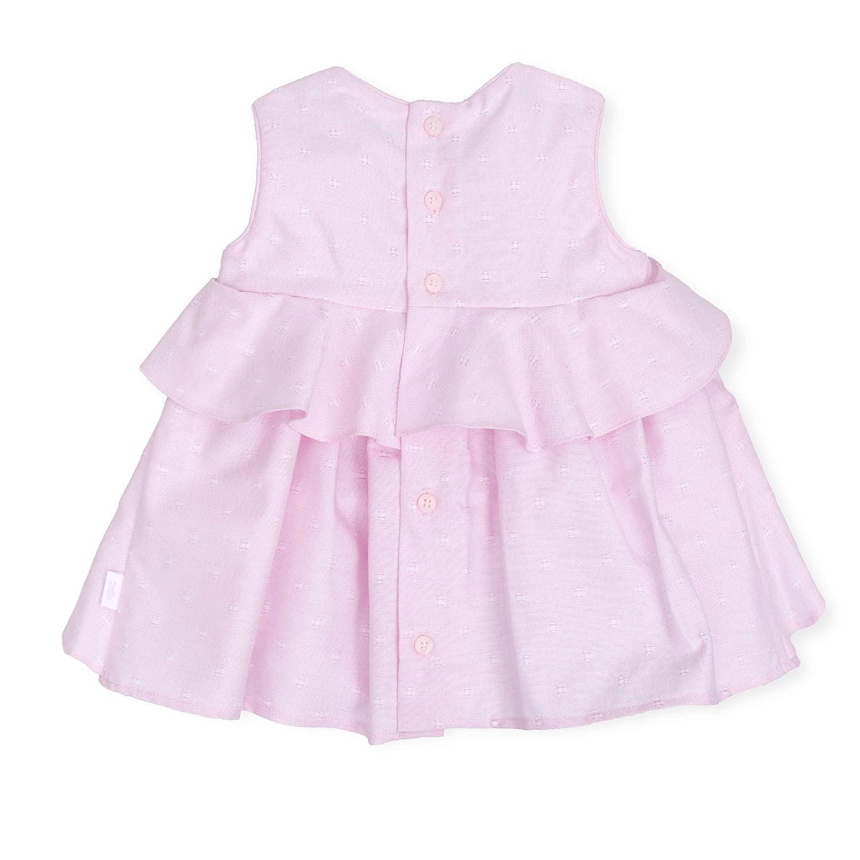 Tutto Piccolo 6416S19 Vestido Beb/é y Ni/ña sin Mangas Verano Algod/ón Tallas de 3 Meses a 6 a/ños Color Rosa